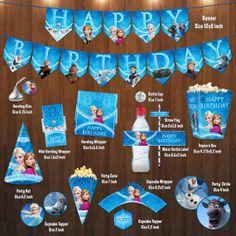Disney Frozen Birthday Party Mini Package Digital File for Girl Boy DIY NonPersonalise (Personalized) Olaf Sven Anna Elsa Hans Kristoff