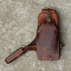 Convertible sling pack/day pack/men's leather bag/one shoulder backpack/Tignanello shoulder bag