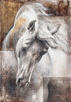 View past auction results for KamilaKarst on artnet Horse Drawings, Animal Drawings, Art Drawings, Painted Horses, Abstract Horse Painting, Abstract Art, Horse Artwork, Equine Art, Animal Paintings