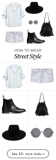 """Street style"" by vinh-umit on Polyvore featuring MANGO, Forever 21, Loeffler Randall and rag & bone"