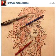 Bear Woman #Tattoo - (as seen on #Instagram: @drewromerotattoo)