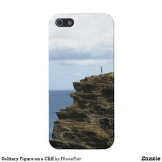 Solitary Figure on a Cliff iPhone SE/5/5s Case - personalize with your name #hawaii