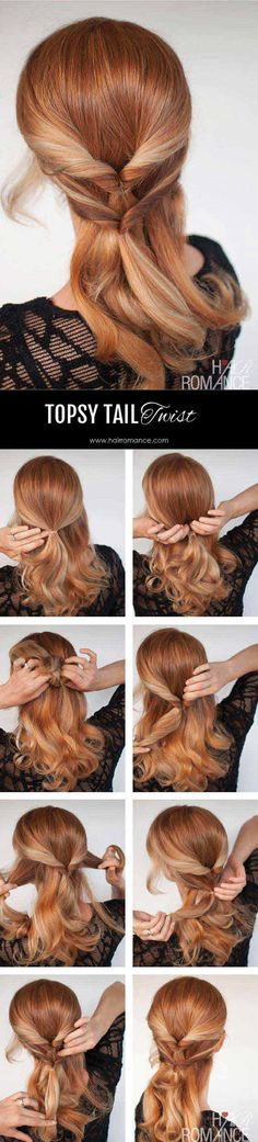Best Hairstyles for Summer - Hairstyle Tutorial – A Twist on the Topsy Tail – A Twist on the Topsy Tail - Easy and Cute Hair Styles for Long, Medium and Short hair - Whether you have Black or Blonde Hair, Check Out The Best Styles from 2016 and 2017 - Tutorial for Braided Updo, Cute Teen Looks, Casual and Simple Styles, Heatless and Natural Looks for the Wedding - https://thegoddess.com/best-hairstyles-for-summer/