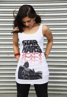 Star Wars 'Manga Vader' Ladies Long Tank-top