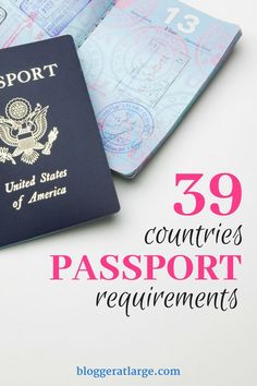 Passport requirements for various countries #travel #passport #country #requirements