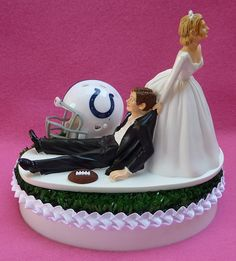 Wedding Cake Topper Indianapolis Colts Indy Football by WedSet, $59.99