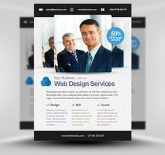Flat Corporate Flyer Template by felicidads , via Behance ...