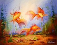 Рыбки маслом: 22 тыс изображений найдено в Яндекс.Картинках