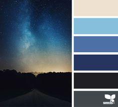 Explore Design Seeds color palettes by collection. Black Color Palette, Blue Black Color, Hue Color, Colour Pallette, Colour Schemes, Colour Combinations, Design Seeds, Color Cielo, World Of Color