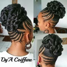 Updo Braids Styles Idea braided updos for black hair natural hair styles braided Updo Braids Styles. Here is Updo Braids Styles Idea for you. Updo Braids Styles braided updos for every occasion naturallycurly. Natural Hair Updo, Natural Hair Care, Natural Beauty, Updo Styles, Short Hair Styles, African Hairstyles, Girl Hairstyles, Natural Updo Hairstyles, Braided Hairstyles For Black Hair