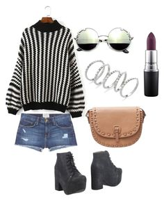 """S.S 18"" by biekatapang on Polyvore featuring Current/Elliott, Jeffrey Campbell, Kendra Scott, MANGO and MAC Cosmetics"