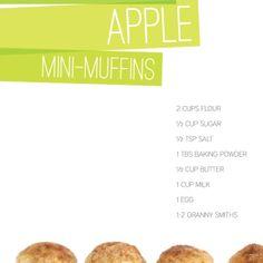 Snickerdoodle Apple Mini-Muffins