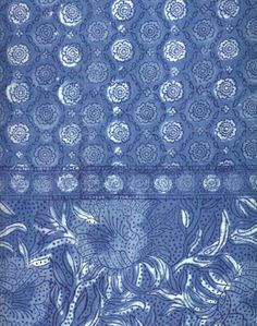 Anokhi USA: Sweetest Indigo Flower cotton scarf