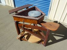 Leach Style Treadle Potters Wheel by Douglas Gates Pottery