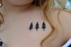 simple evergreen tree tattoo - Google Search