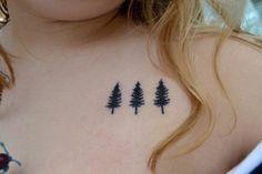 simple evergreen tree tattoo - Google Search