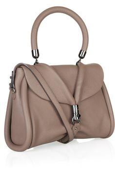 Louboutin Miss Rope Capra dark taupe leather bag