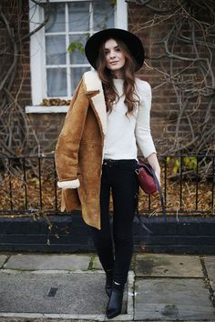 Sheepskin 70's Jacket, 'What Olivia Did'.