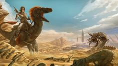 ARK: Survival Evolved: Scorched Earth DLC - Key Art (Clean)