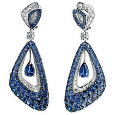 GRAFF Luna Earrings with sapphires and diamonds