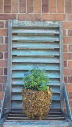 Antique Architectural Shutter Shelf with Great by Trinketicity, $40.00