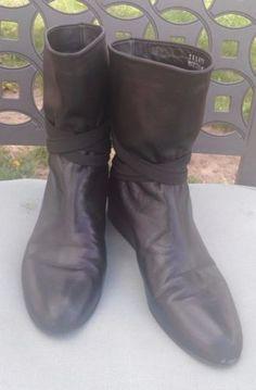Stuart-Weitzman-Womens-Black-Soft-Leather-Ankle-Boots-SZ-7M