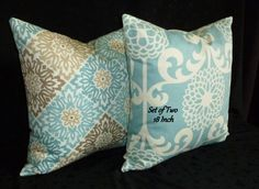 Decorative Throw Pillow Covers  Set of Two 18 Inch  by berly731, $37.00