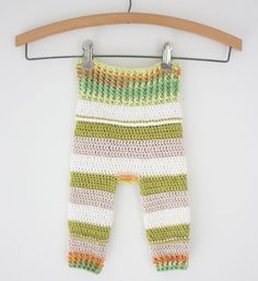PATTERN Crochet Baby Clothes Pants Romper Infant by PuffalumpBrand, $3.99