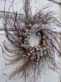 Christmas Deco, Country Christmas, Christmas Crafts, Winter Wreaths, Holiday Wreaths, Holiday Decor, Twig Wreath, Berry Wreath, Indoor Wreath