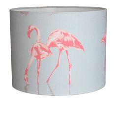 Flamingo Drum Lampshade