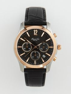 Kenneth Cole Unisex Rose Gold & Black Watch