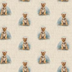 Tiger All Over Linen Style Canvas Fabric Bean Bag Cushion, Printed Linen, Cotton Linen, Cotton Fabric, Tea Towels, Cushion Covers, Canvas Fabric, Cushions, Upholstery