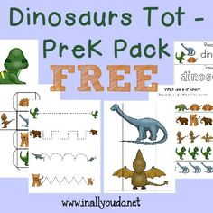 FREE Dinosaurs Tot PackHSG