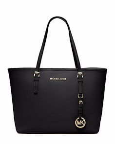 60b4772e284a4 MICHAEL KORS Jet Set Travel Saffiano Leather Small Tote