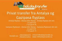 WE  STARTED TO HAVE SHUTTLE TRANSFER FROM GAZİPAŞA AIRPORT AND ANTALYA AIRPORT.    PRICES:  FROM/TO GAZIPAŞA AIRPORT : 10 € (PER PERSON) (ONE WAY)  FROM/TO ANTALYA AIRPORT : 15 € (PER PERSON) (ONE WAY)    CONTACT:+90 533 583 25 75 (PHONECALL-WHATSAPP-VIBER) Please contact