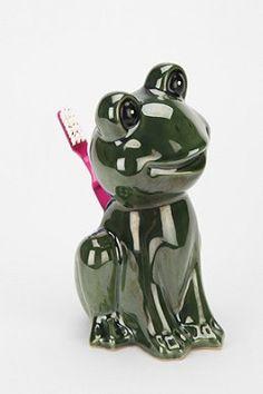 Happy Frog Toothbrush Holder