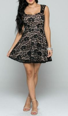 Evening Dreaming Cocktail Hour Black Lace Tulle Dress is the perfect dress to slip into at night or on the weekends to relax and enjoy the night away. Featuring a floral black lace overlay Sensual ill