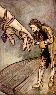 "Gulliver from ""Gulliver's Travels"" by Arthur Rackham."