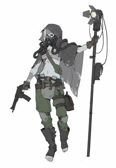 Paler Girl by Anna Kharitonova Cyberpunk Girl, Cyberpunk Character, Character Design References, Character Art, Apocalypse Character, Apocalypse World, Post Apocalyptic Art, Poses References, Sci Fi Characters