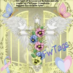 A beautiful tag made by CT member Moonlight Darlings using my heart of Innocence kit.