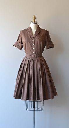 Van Houten dress vintage 1950s dress cotton 50s by DearGolden