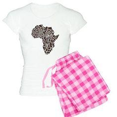 Africa in a giraffe camouf pajamas on CafePress.com