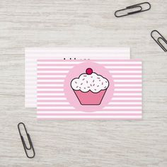 cupcake shop business Cards Elegant Cupcakes, Sweet Cupcakes, Love Cupcakes, Bakery Business Cards, Business Gifts, Business Card Design, Cupcake Shops, Cupcake Bakery, Zebra Print Cupcakes