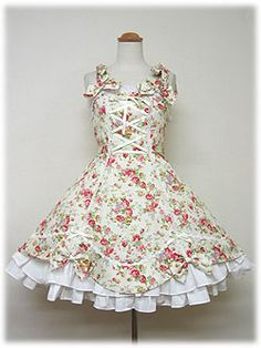 angelic pretty 花柄シャンタンジャンパースカート