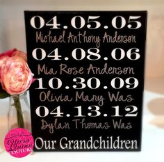 Our Grandchildren Family Birthday Special by OliviaQuinnCouture