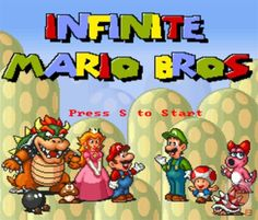 Infinite Mario Bros Online is a free Adventure Games. You can play the game on smartphone and tablet (iPhone, iPad, Samsung, Android devices and Windows Phone)