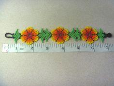 Huichol Bracelet Beaded Peyote Multicolor Mexican Folk Art Sacred Handmade   eBay