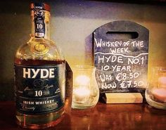 CORK: HYDE No.1 Single Malt 10 year old with an Olorosso Sherry cask finish is whiskey of the week in Shelbourne Bar Cork all this week!