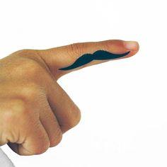 finger mustache tattoo skiptomylou.org