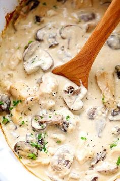 Delicious and Easy to Make: The Slow Cooker Stroganoff Chicken Recipe. - Delicious and Easy to Make: The Slow Cooker Stroganoff Chicken Recipe. Delicious and Easy to Make: - Chicken And Mushroom Stroganoff Recipe, Slow Cooker Chicken Mushroom, Slow Cooker Chicken Stroganoff, Mushroom Soup, Chicken Cooker, Slow Cooker Creamy Chicken, Skillet Chicken, Chicken Casserole Slow Cooker, Healthy Foods
